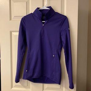 Purple NIKE Golf Thermo Quarter Zip